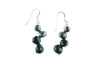 Green Pearl Two-Toned Earrings