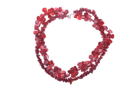 Coral Two Strand Necklace