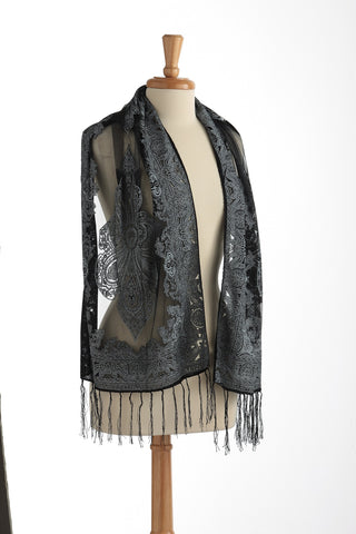 Sheer Silky Scarf black