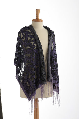 Sparkle Sheer Scarf Purple