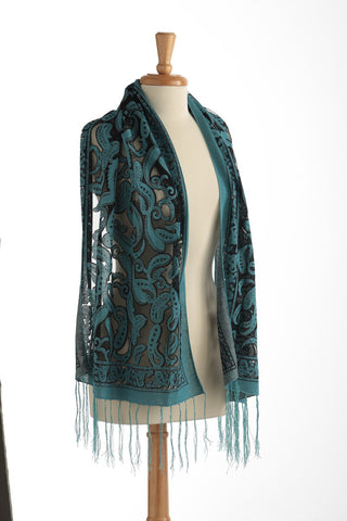 Blue Sparkle Sheer Scarf