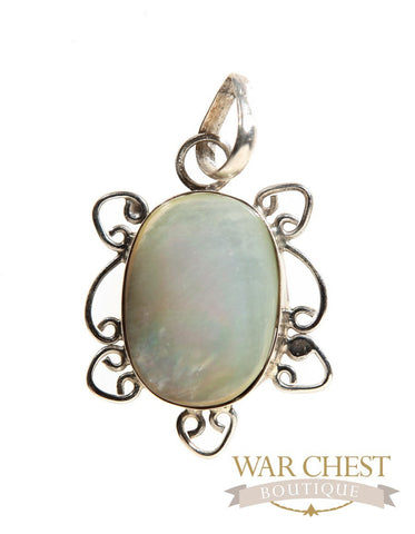 Mother of Pearl Framed Pendant