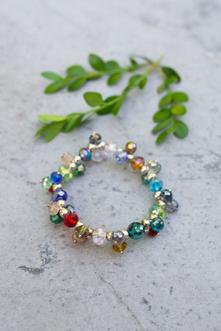 Multi Crystal Stretch Bracelet