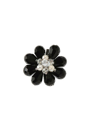 Flower Brooch Black/White