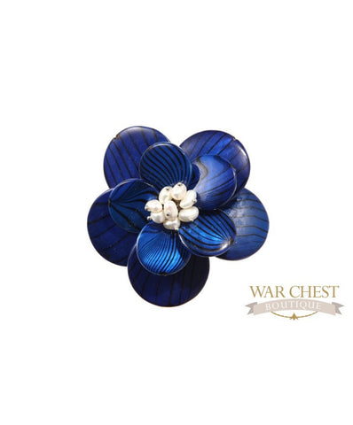 Blue Two Step Brooch