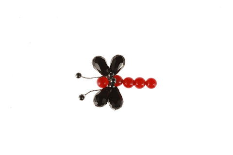Dragonfly Brooch Red Agate