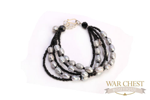 Gray & Black Layered Bracelet