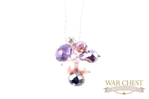Purple Cluster Pendant Chain