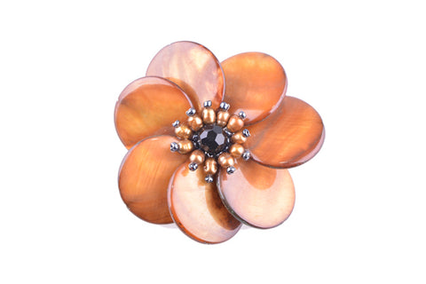 Brown & Agate Brooch
