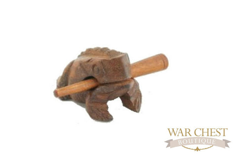 Brown Wood Frog for Children - Toys - WAR Chest Boutique