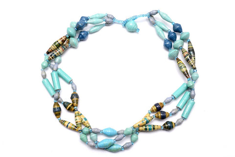 Ugandan Multi Strand Necklace
