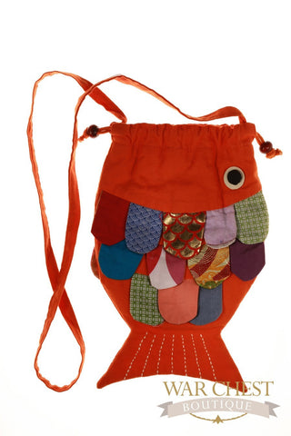Fish Shoulder Bag: Colors Vary