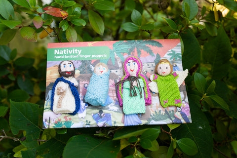 4 Finger Puppet Set Nativity