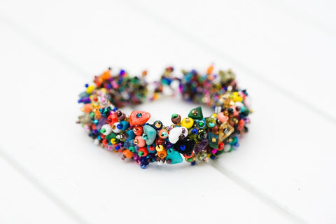 Multi Color Beaded Bracelet