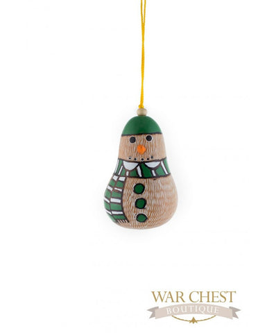 Snowman Gourd Ornament - Ornaments - WAR Chest Boutique