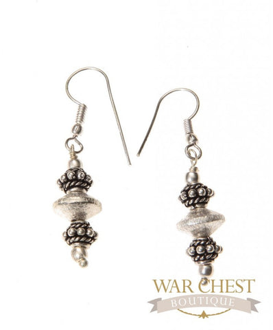 Silver Brushed Earrings