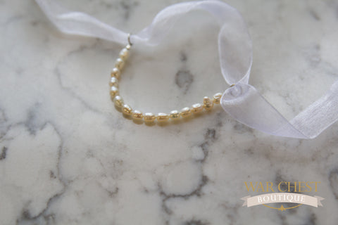 Pearls & Bow Children Bracelet