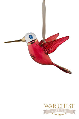 Glass Hummingbird Red - Ornaments - WAR Chest Boutique