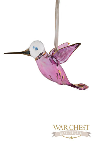 Glass Hummingbird Purple - Ornaments - WAR Chest Boutique