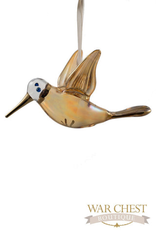 Glass Hummingbird Yellow - Ornaments - WAR Chest Boutique