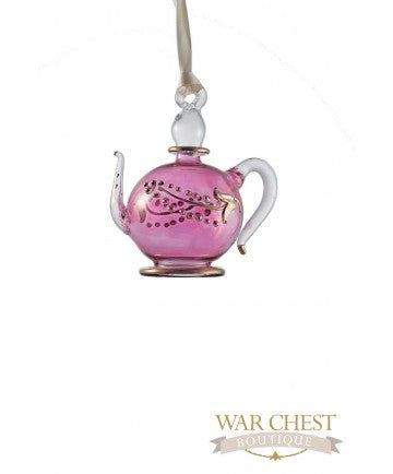 Teapot Glass Ornament Purple - Ornaments - WAR Chest Boutique