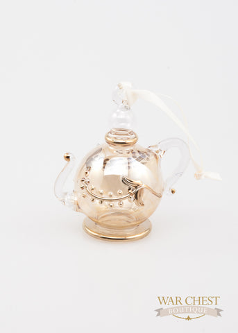 Glass Teapot Ornament Yellow - Ornaments - WAR Chest Boutique