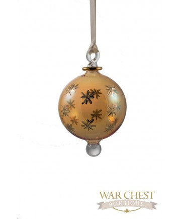 Star Ball Glass Ornament Yellow - Ornaments - WAR Chest Boutique
