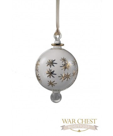 Star Ball Glass Ornament Clear - Ornaments - WAR Chest Boutique