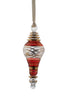Swagged Finial Ornament Red