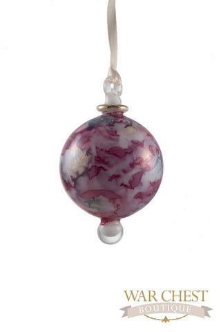 Painted Ball Glass Ornament Red
