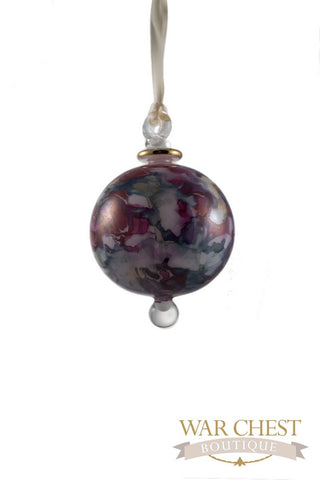 Painted Ball Glass Ornament Purple