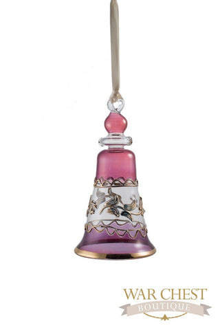 Bell Glass Ornament Purple - Ornaments - WAR Chest Boutique