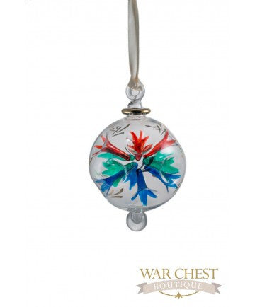 Spray Flower Glass Ornament Multi - Ornaments - WAR Chest Boutique