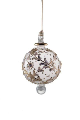 Gold Design Ball Ornament Clear
