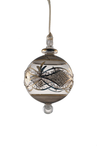 Center Band Ball Ornament Smokey