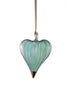 Glass Heart Ornament - Green