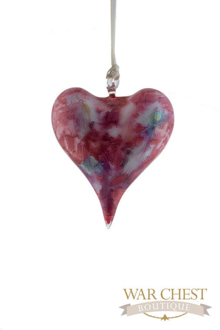 Ceramic Heart Ornament Red - Ornaments - WAR Chest Boutique