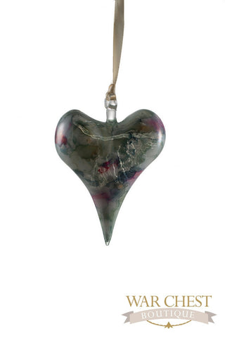 Ceramic Heart Ornament Green