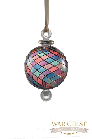 Beribboned Glass Ornament Multi - Ornaments - WAR Chest Boutique