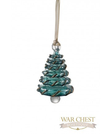 Small Glass Christmas Tree Ornament Green - Ornaments - WAR Chest Boutique