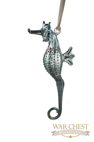 Glass Seahorse Ornaments Green - Ornaments - WAR Chest Boutique