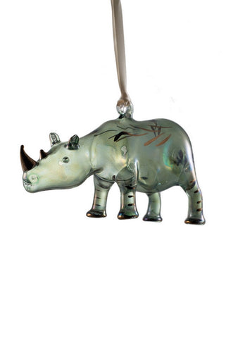 Rhino Ornament Green - Ornaments - WAR Chest Boutique