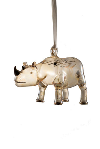 Rhino Ornament Yellow - Ornaments - WAR Chest Boutique