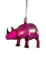 Rhino Ornament Purple - Ornaments - WAR Chest Boutique