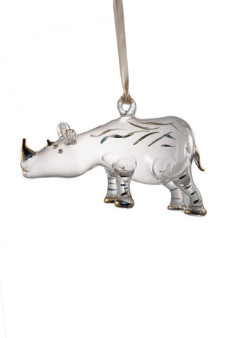 Rhino Ornament Clear - Ornaments - WAR Chest Boutique