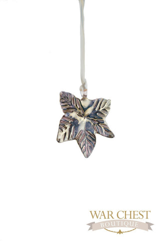 Maple Leaf Glass Ornament Gold - Ornaments - WAR Chest Boutique