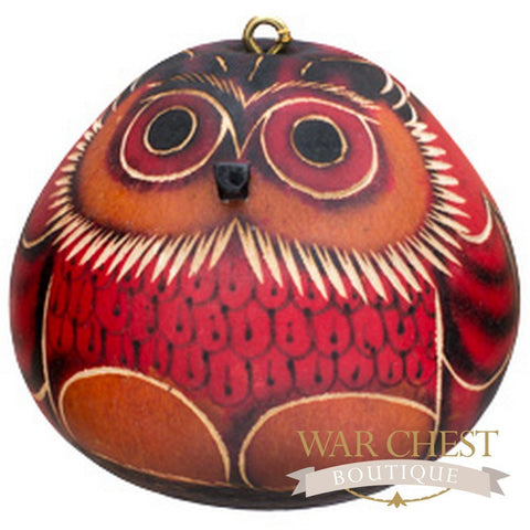 Owl Gourd Ornament - Ornaments - WAR Chest Boutique