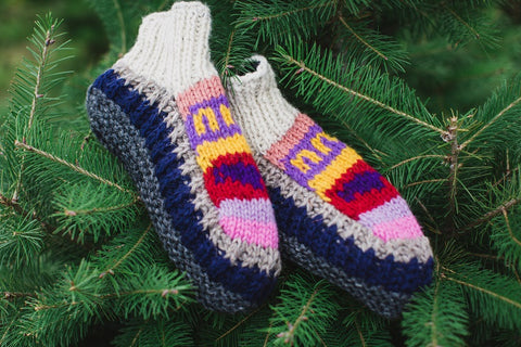 Fleece Lined Knit Slippers