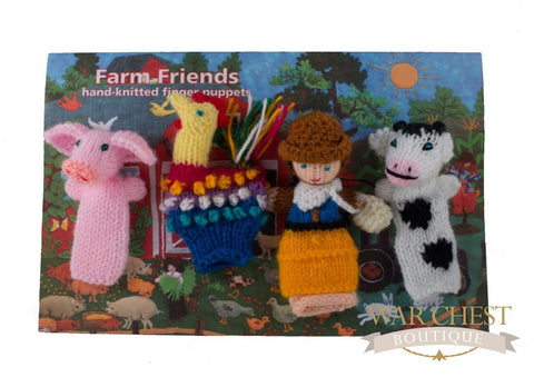 4 Finger Puppet Set Farm