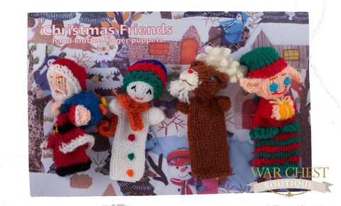 4 Finger Puppet Set Christmas - Children's Collection - WAR Chest Boutique